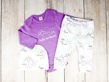 Pacific Northwest Organic Bodysuit - Light Purple / White - CAVU Creations