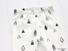 Tribal Trees Organic Baby Leggings - Black / White - CAVU Creations
