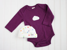 Cloud Organic Bodysuit - Purple / White - CAVU Creations