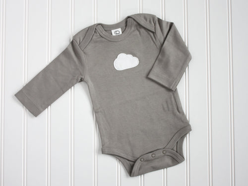 Cloud Organic Bodysuit - Gray / White - CAVU Creations