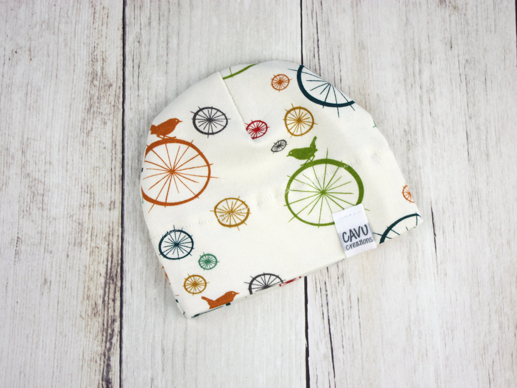 Birds + Spokes Organic Beanie - Multi / Cream - CAVU Creations