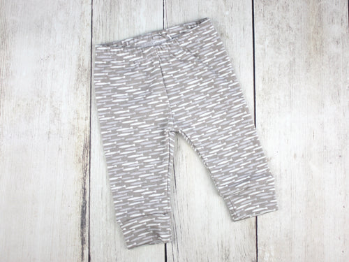 Fish Organic Baby Leggings - Gray / Blue / White - CAVU Creations