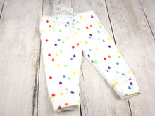 Rain Drops Organic Baby Leggings - Rainbow / White - CAVU Creations