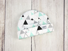 Stacked Triangles (Small) Organic Beanie - Mint / Gray / Black - CAVU Creations
