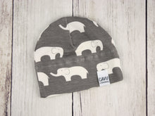 Elephants Organic Beanie - White / Gray - CAVU Creations