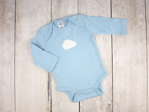 Cloud Organic Bodysuit - Sky Blue / White - CAVU Creations