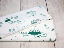 PNW Organic Burp Cloths (Set of 2) - Forest Green / White - CAVU Creations
