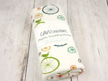 Birds + Spokes Organic Swaddling Blanket - Multi / Cream - CAVU Creations