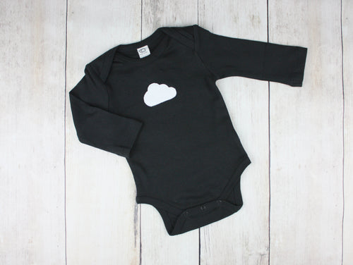 Cloud Organic Bodysuit - Black / White - CAVU Creations