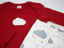 Cloud Organic Bodysuit - Red / White - CAVU Creations