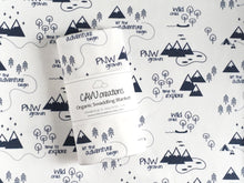 PNW Organic Swaddling Blanket - Navy Blue / White - CAVU Creations
