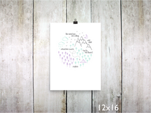 Print - PNW Circle / Purple Mint Gray - CAVU Creations