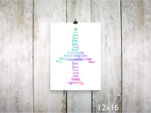 Print - Phonetic Alpha Jet / Rainbow - CAVU Creations