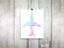 Print - Phonetic Alpha Jet / Rainbow