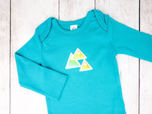 Mountains Organic Bodysuit - Light Teal / Rainbow - CAVU Creations