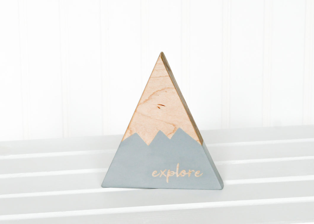 Wooden Mountain - Light Gray -
