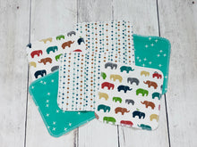Animals + Geometrics Organic Reusable Wipes (Set of 6) - Multi