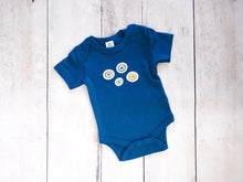 Spokes Organic Bodysuit - Teal / Multi (Short) - CAVU Creations