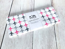 Jets Jets Jets Organic Burp Cloths (Set of 2) - Pink / Gray / White