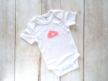 Cloud Organic Bodysuit - White / Coral Pink with Airplane - CAVU Creations