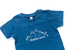 Adventure Awaits Organic Tee - Navy / White - CAVU Creations