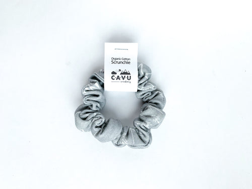 Organic Cotton Scrunchie - Perfectly PNW - Gray / White