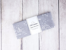 Perfectly PNW Organic Burp Cloths (Set of 2) - White / Gray - CAVU Creations