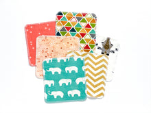 Animals + Geometrics Organic Reusable Wipes (Set of 6) - Multi - CAVU Creations
