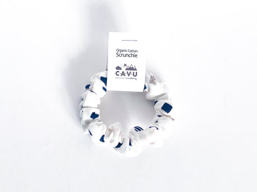 Organic Cotton Scrunchie - Diamonds - Navy / Gray / Pink / White