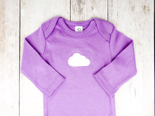 Cloud Organic Bodysuit - Light Purple / White - CAVU Creations