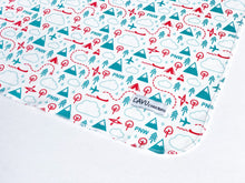 PNW Love Organic Swaddling Blanket - Red / Teal / Mint / White - CAVU Creations