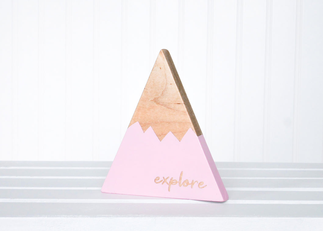 Wooden Mountain - Pink -