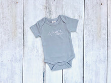 Wild Child Organic Bodysuit - Gray / White (Short) - CAVU Creations