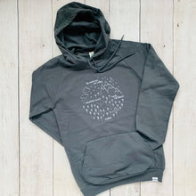 Adult Pullover - Pacific Northwest Circle - Stone Gray / White
