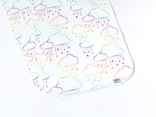 Clouds + Rain Organic Burp Cloths (Set of 2) - Rainbow Prismatic - CAVU Creations