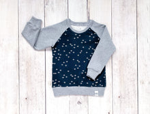 Plus Signs (Wink) Organic Cotton Pullover - Navy / White / Heather Gray - CAVU Creations