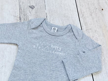 Happy Camper Organic Bodysuit - Heather Gray / White - CAVU Creations