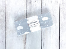 Clouds + Rain Organic Burp Cloths (Set of 2) - Rainbow / White on Gray - CAVU Creations