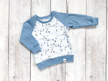 PNW Love Organic Cotton Pullover - Blue / White / Gray / Mint - CAVU Creations
