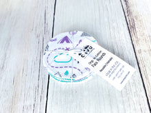 Organic Cotton Face Rounds - PNW + Clouds Mix - Purple / Mint / Teal (Small)