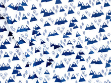 Mountains + Trees Organic Swaddling Blanket - Navy / White - CAVU Creations