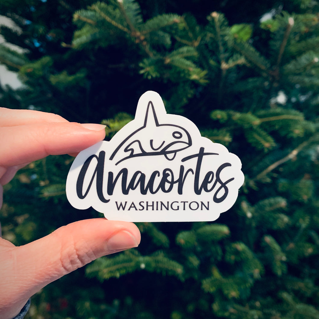 "Sticker / Decal - Anacortes Orca 3"" - CAVU Creations"
