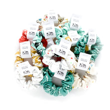 Organic Cotton Scrunchie - Airplanes in Clouds - Coral / White - CAVU Creations