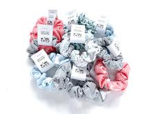 Organic Cotton Scrunchie - Jets in Clouds - Blue / Gray / White - CAVU Creations