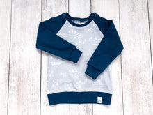 PNW Organic Cotton Pullover - Gray / White / Navy Blue - CAVU Creations