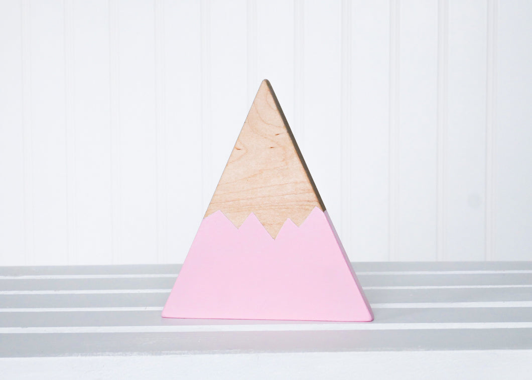 Wooden Mountain - Pink - Sierra