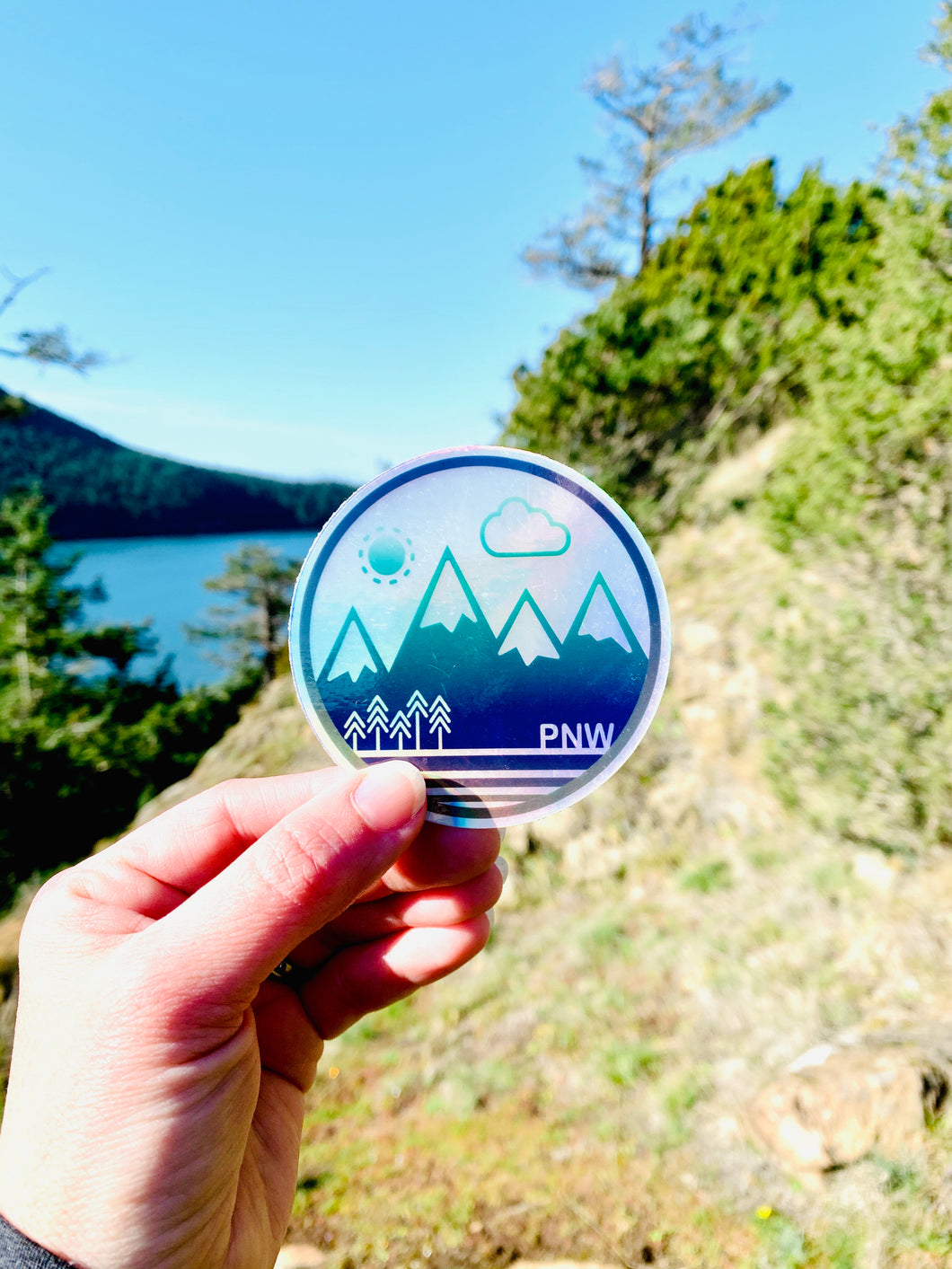 Sticker / Decal - PNW Circle Holographic 3