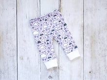 PNW Love Organic Baby Leggings - Charcoal Gray / White / Pink - CAVU Creations
