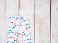 PNW Love Organic Baby Leggings - Red / Teal / Mint / White - CAVU Creations