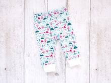 PNW Love Organic Baby Leggings - Teal / Red / White / Mint - CAVU Creations